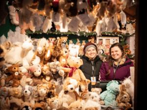 Vendors at the Christmas Market