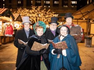 Christmas Carolers at the Christkindlmarket