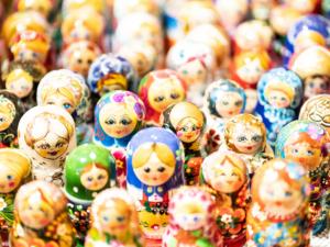 Wooden dolls at the Christkindl Market