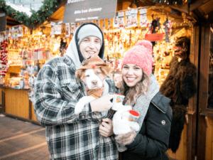Visitors at the German Christmas Market