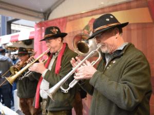 Musicians at the Christkindlmarket